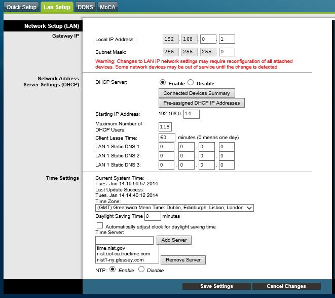 Setting up a Cisco DPC3827 Router