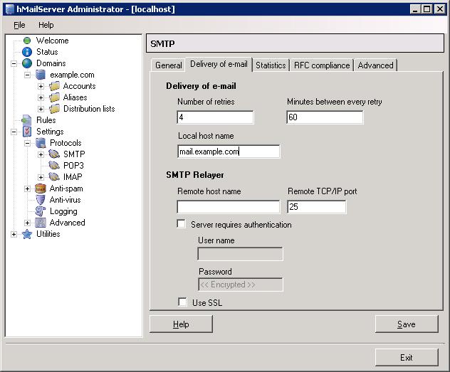 hMailServer - Free Email Server for Microsoft Windows