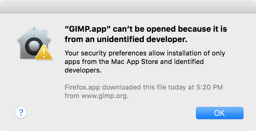 Installing GIMP on OS X