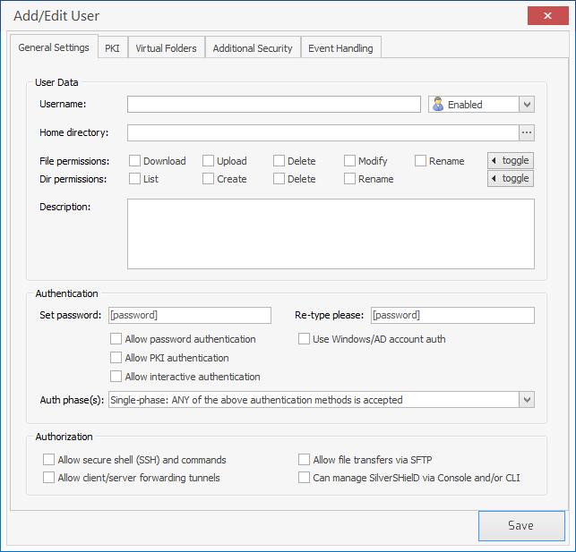 SilverSHielD SSH Server for Windows