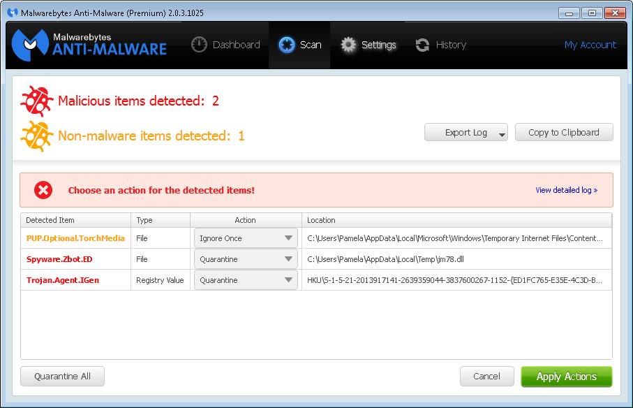 spyware zbot malwarebytes