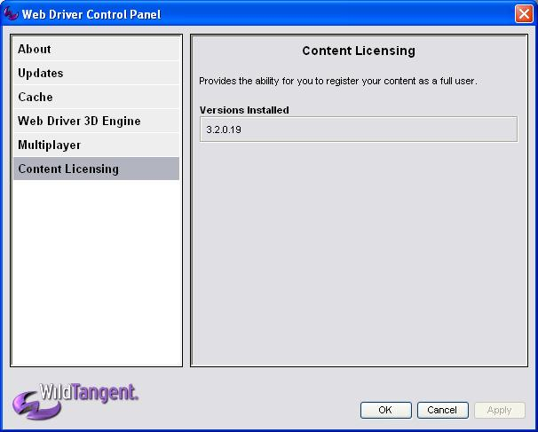 Install wildtangent web driver download